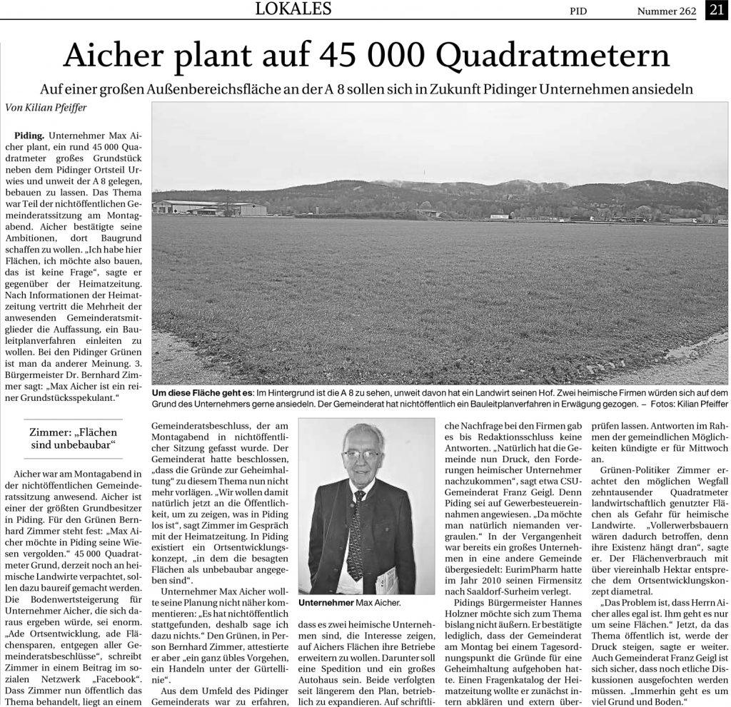FA-RTgB - Aicher plant auf 45000 Quadratmeter