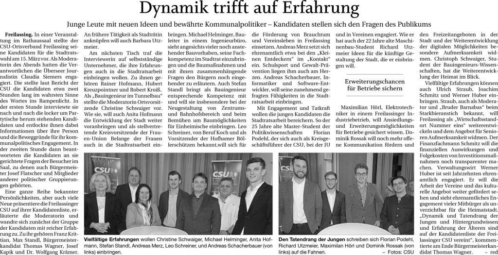 Dynamik trifft Erfahrung FA-RTgB 17.01.2020