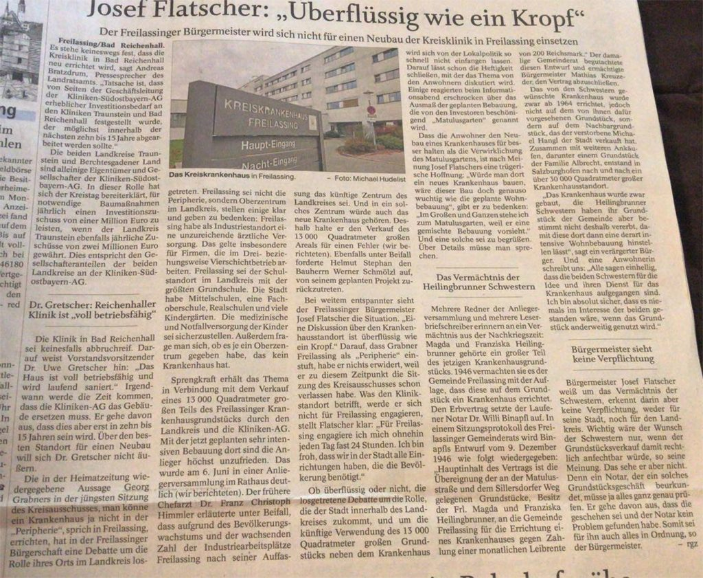 Josef Flatscher - Überflüssig wie ein Kropf vom 17.06.2018 - FA
