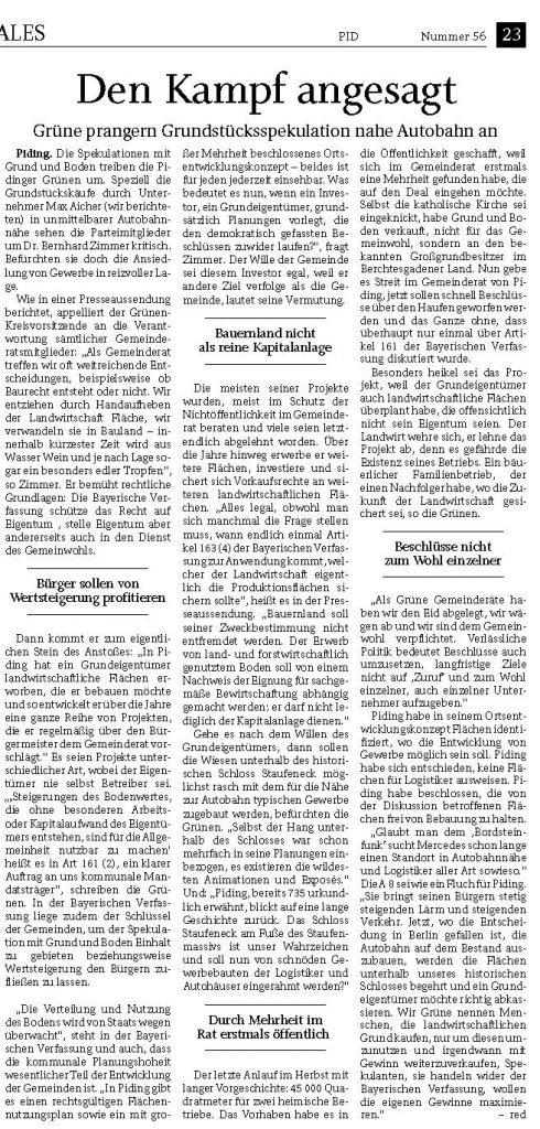 Den Kampf angesagt - Bernhard Zimmer - RTgB vom 07.03.2020