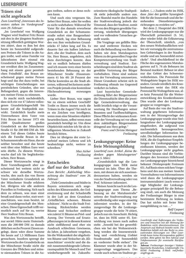Reichenhaller Tagblatt - Leserbriefe Seite 32 - 07.03.2020