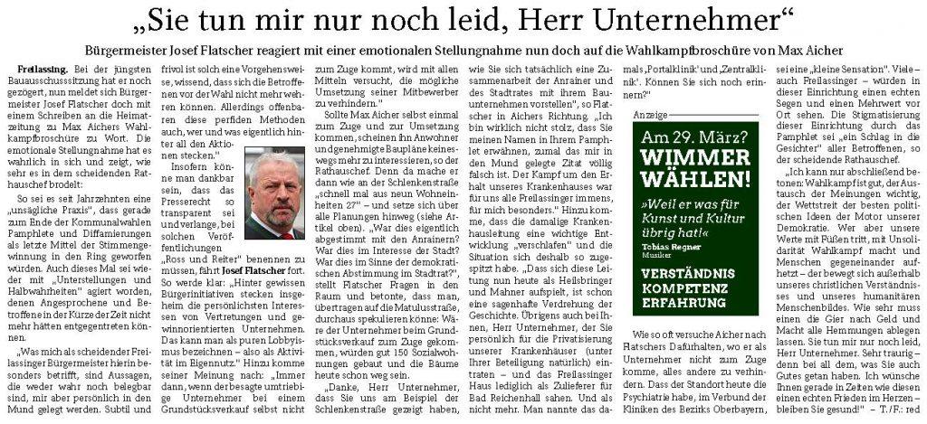 Josef Flatscher - Sie tun mir nur noch leid, Herr Unternehmer - FA 25.03.2020