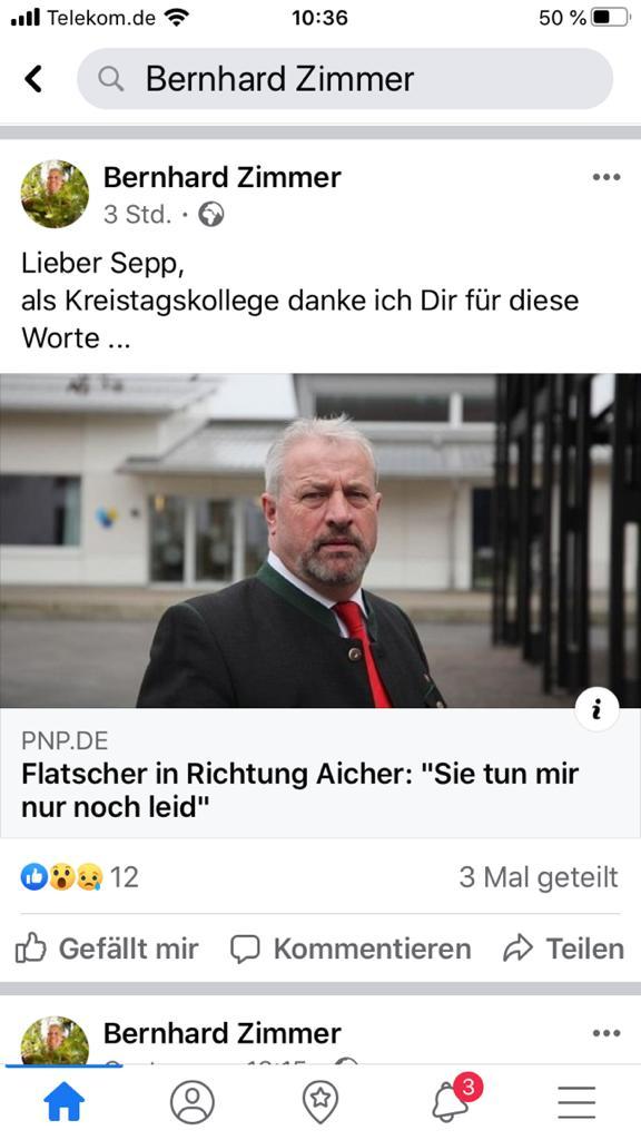 Zimmer dankt Flatscher auf Facebook...
