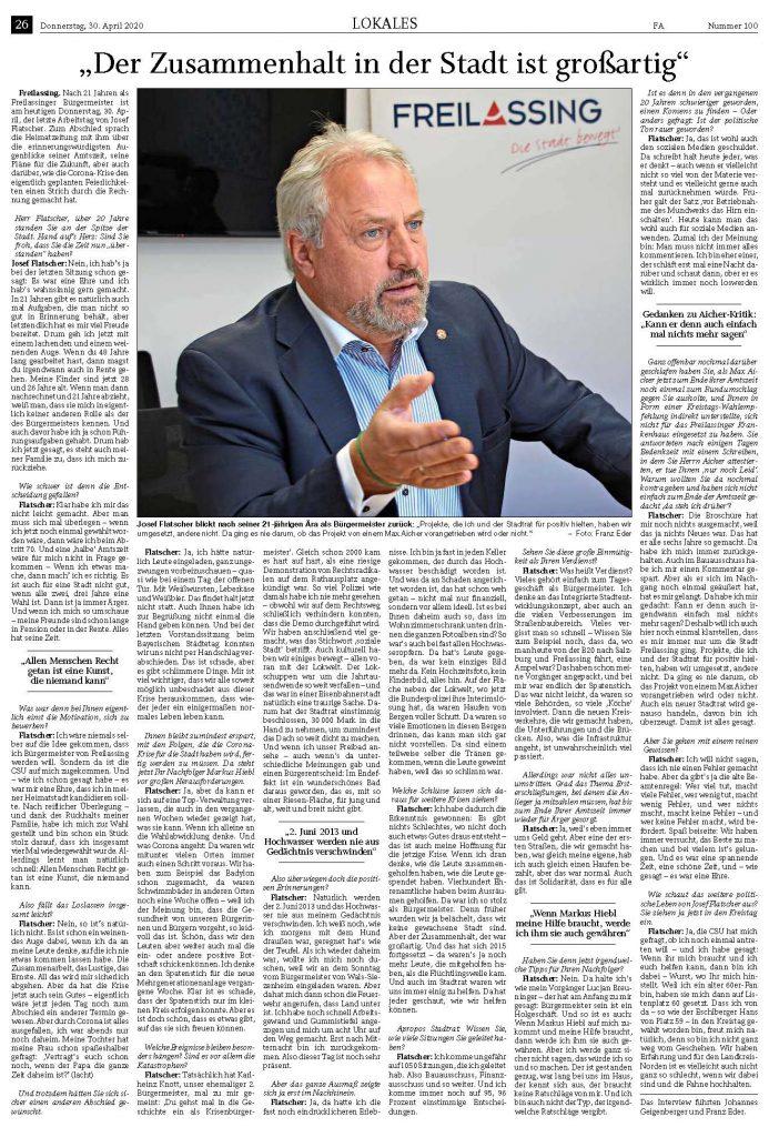 Abschieds-Interview des Ex-Bürgermeisters